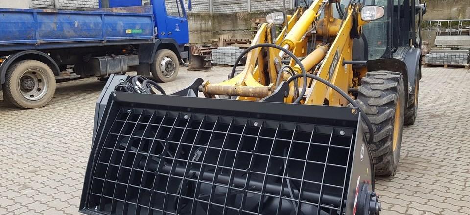 Mieszanie betonu na placu budowy